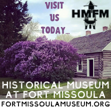 Historical Museum at Fort Missoula, Visit us Today, Lilacs and log building