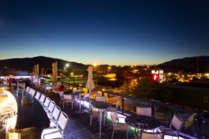 Enjoy the view from Casey's sky bar