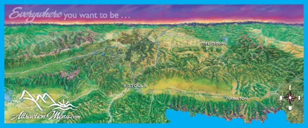 Missoula Bitterroot Pintler Mini Map