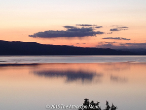 Sunset along the East Shore of Flathead Lake