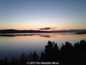 We never get tired of the views along Flathead Lake