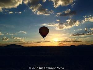 Take a scenic sunrise ballloon flight