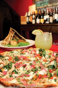Latitude 48 Offers tasty pizza, sandwiches, steaks, and moredrinks year round