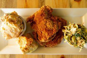 Chicken, Cole Slaw, Chicken Pot Pie, Biscuit