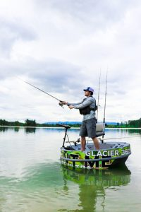 Glacier 360 Boat Rentals man fishing