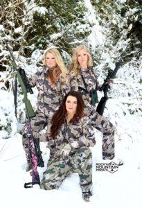 Rocky Mountain Front women in camo gear