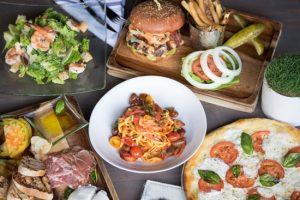 Rumour Restaurant, Hero, and assorted menu items