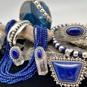 Beautiful blue jewelry