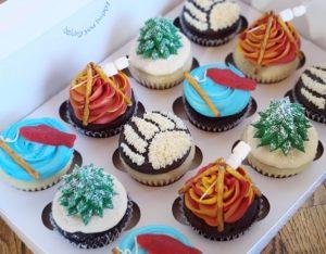 Custom cupcakes camping theme